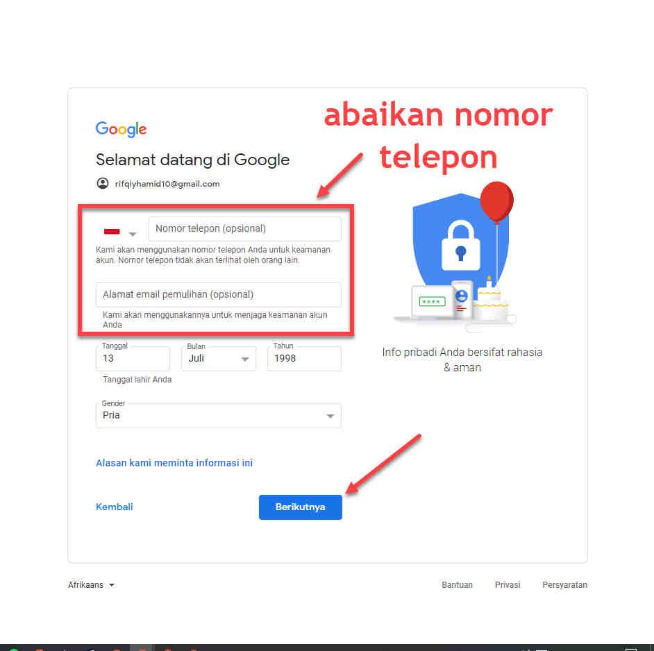 Cara Membuat Akun Gmail Tanpa Nomor Telepon Untuk Verifikasi