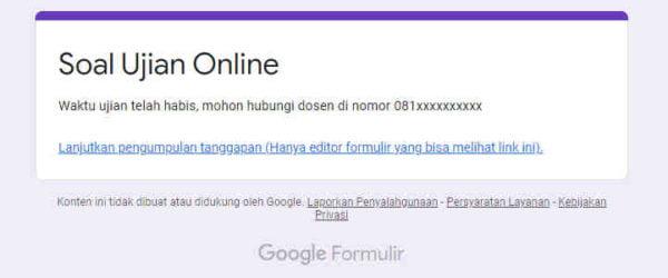 Cara Membatasi Waktu Ujian Online Di Google Form