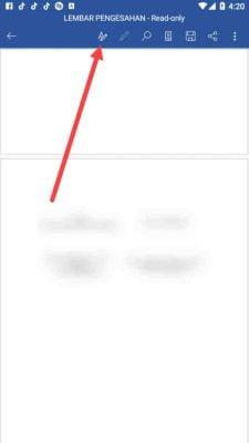 menu edit text di word android