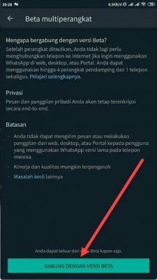 gabung dengan versi beta whatsapp
