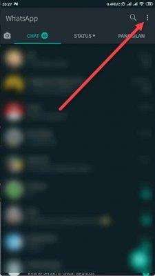 pilih menu 3 titik whatsapp