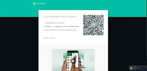 scan whatsapp web di komputer atau laptop
