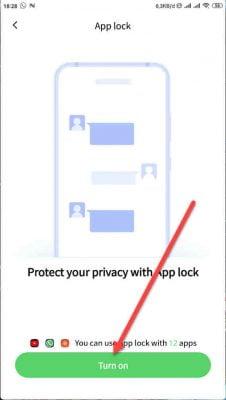 hidupkan app lock untuk mengunci instagram