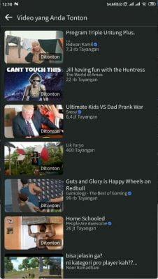 melihat video facebook yang pernah ditonton