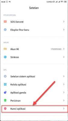 menu kunci aplikasi instagram di android