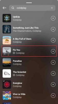 pilih lagu yang sudah anda temukan