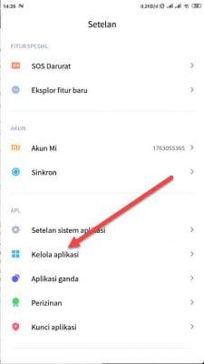 pilih menu kelola aplikasi