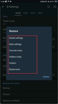restore telegram