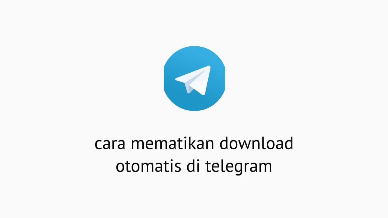 Cara Mematikan Download Otomatis Di Telegram