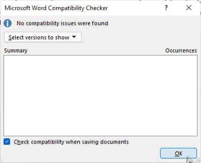 check compatibillity dokumen
