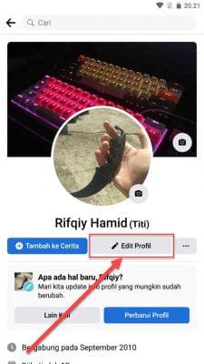 edit profil facebook