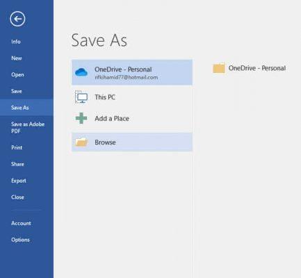 save as file dokument anda